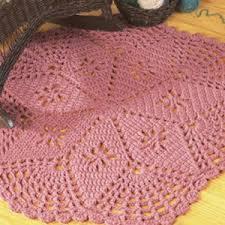 Pink Star Rug Lacy Star Rug Crochet Pattern Purple Kitty