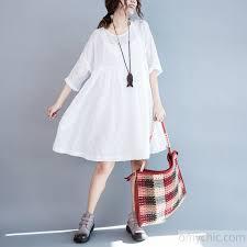 2017 summer fine white cotton dresses embroidery lace details plus size sundress cotton clothing3 jpg