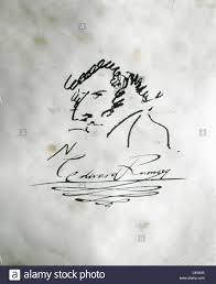 architect signature signature and self portrait of the architect edward ramsey 19th