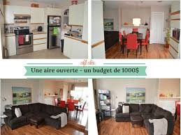 cuisine petit budget avant après 1000 pour transformer salon cuisine et salle à