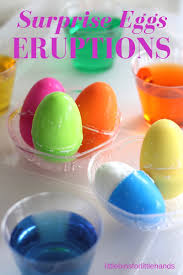 surprise eggs eruptions easter science activity