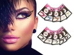 temporary eye 10 pairs transfer eyeshadow and eyeliner