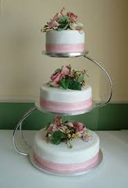3 tier wedding cake stand something to go with the metal ring toppers 3 tiered wedding cake