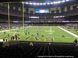 mercedes superdome mercedes superdome section 127 seat views seatgeek