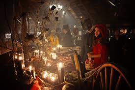 enchanted forest halloween wedding ruffled
