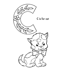 abc alphabet coloring sheets abc cat animals coloring
