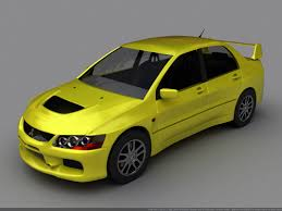 mitsubishi yellow model car mitsubishi evo