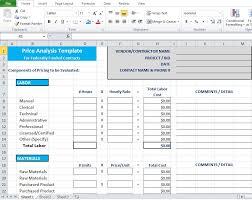 Supplier Scorecard Template Excel Price Analysis Spreadsheet Template Excel Tmp