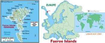 map of the islands faeroe islands map and and map of faeroe islands information page