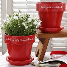 personalized flower pot personalized flower pots for teachers gifts