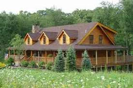 projects idea log cabin house plans with wrap around porches 9