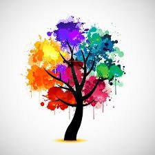 9934554 colorful tree and peace