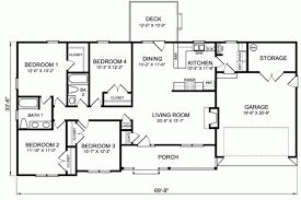 ranch style house floor plans gallery for 4 bedroom ranch style house plans 4 bedroom house