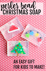 perler bead christmas soap easy gift for kids to make perler