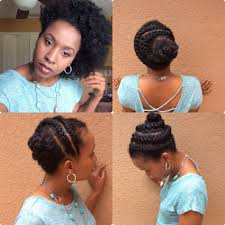 hairstyles for medium length hair for african american natural hair braided updo 2 short medium length youtube