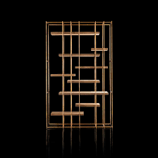 Brass Bookcase Contemporary Bookcase Solid Wood Steel Brass Cage B By