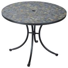 stone patio side table outdoor garden beautiful round outdoor patio table with mosaic