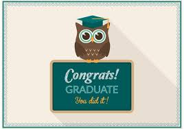 graduation owl free graduation owl card vector free vector stock