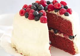 raspberry and blueberry red velvet cake u2022 the answer is cake