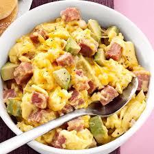 Dinner Egg Recipes Ham And Avocado Scramble Recipe Taste Of Home