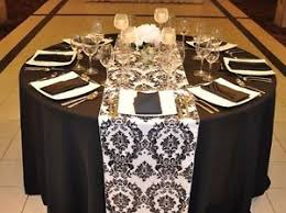 black and white table runners cheap 10 black white flocked taffeta damask table top runners wedding