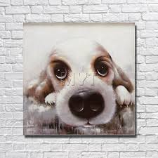 online get cheap fine dog art aliexpress com alibaba group wholesale for sale cute little dog home decor living room decor fine art pictures with framed
