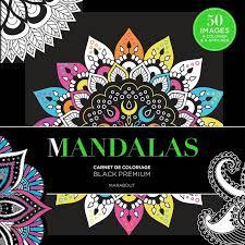 Livre Black Premium Mandalas Collectif Marabout Loisirs créatifs
