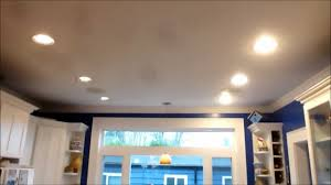10 inch round recessed light trim kitchen can light led retrofit comparision youtube