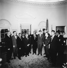 file photograph of meeting with leaders of the march on washington