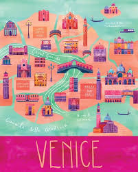 venice map 9 vibrant illustrated maps of venice wanderarti