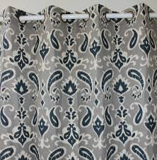 curtains navy blue patterned curtains victorious sheer pattern