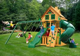 Lowes Swing Sets Furniture Amusing Swing Set By Gorilla Playsets Plus Chateau And
