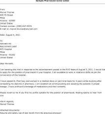 pharmacist job cover letter sample docoments ojazlink