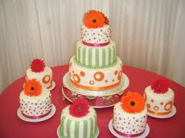 pink orange green u0026 gerber daisy wedding cake cakecentral com