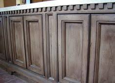 Glazing Kitchen Cabinets Before And After by Rustoleum Weathered Gray Stain On Knotty Alder Cabinets So To