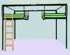 The Double Matchstick Twin Loft Bed By NWCustomFurniture On Etsy - Double loft bunk beds