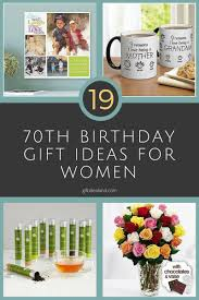 19 great 70th birthday gift ideas for women
