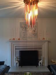 Streamer Chandelier Vein Cut Marble Surround On Fireplace Canopy Designs Streamer