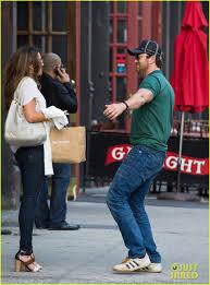 gerard butler hugs u0026 kisses mystery woman outside his hotel photo