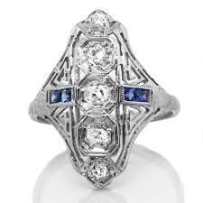 antique north south diamond platinum ring claude morady estate