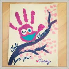 toddler art owl handprints kids handprint art pinterest