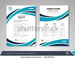front back page brochure template flyer stock vector 461391811