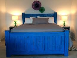 Blue Bed Frame Bed Frame Available In King Size California King Size And