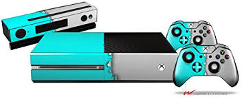 xbox one console with kinect amazon in video games ripped colors neon teal gray holiday bundle decal style skin set