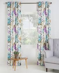 collection edie lined eyelet floral curtains choice of size