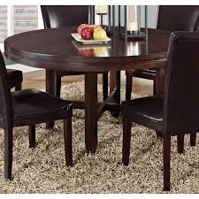 dark brown round kitchen table greyson living hton dark brown cherry 62 inch round dining table