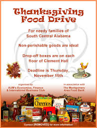 thanksgiving food drive flyer it resume cover letter sle