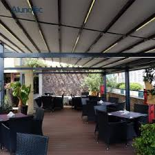 Retractable Pergola Awnings by China Double Sided Aluminum Retractable Pergola Awning System