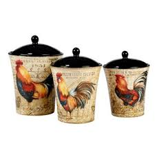 rooster canisters kitchen products ceramic rooster canister set wayfair
