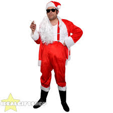 Sleazy Halloween Costumes Mens Naughty Santa Costume Bad Sleazy Father Christmas Fancy Dress